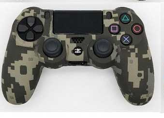 Playstation4 controller skin cover+ grips -gray camouflage