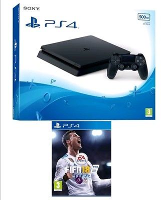 Sony -PlayStation 4 500 G.B-slim -With Fifa 18-R3