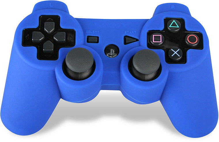 Silicone Cover for playstation3 Dual Shock - Blue