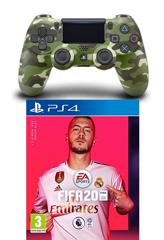 EA Sports FIFA 20 Arabic - PS4 + DualShock 4 Controller - Green Camouflage