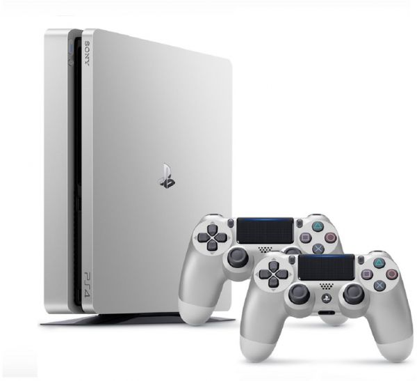 PlayStation 4 Console 500GB Slim - Silver + 2 DualShock