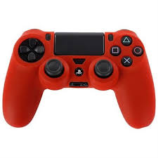 Cover skin play station 4 controller- red