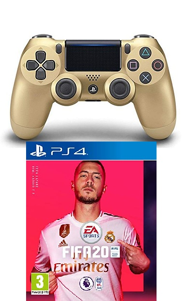 EA Sports FIFA 20 Arabic - PS4 + DualShock 4 Controller - Gold