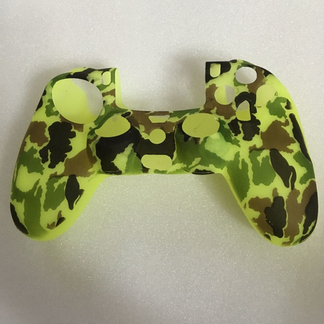 Playstation4 controller skin cover+ grips -yellow camouflage