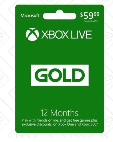 gold xbox 12 month