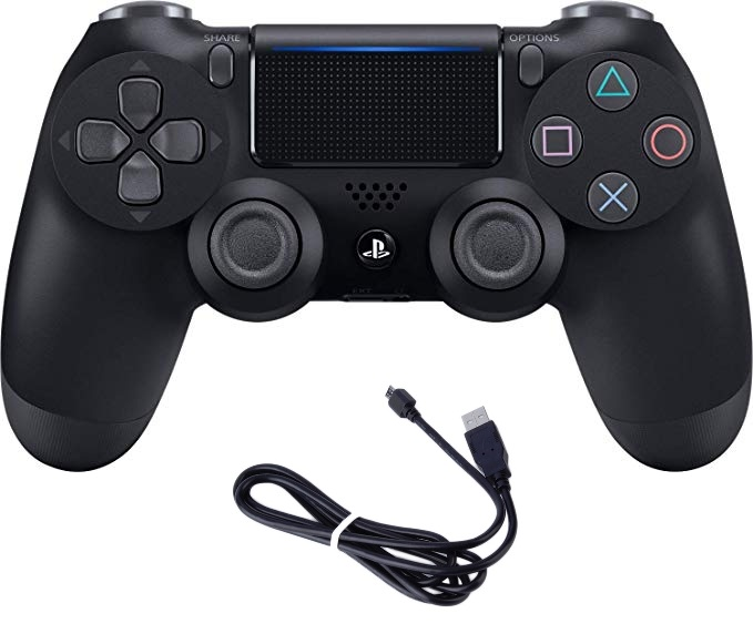 DualShock 4 Wireless Controller for PlayStation 4 -First High Copy  (black)+usb charger
