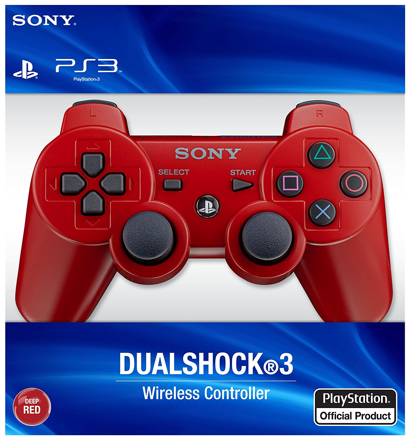 SONY-PlayStation3 Dual Shock-Red