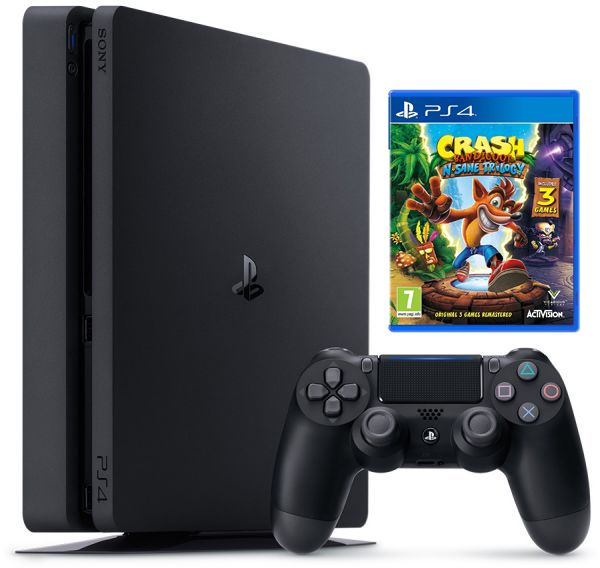 PlayStation 4 Console 500GB Slim + CRASH