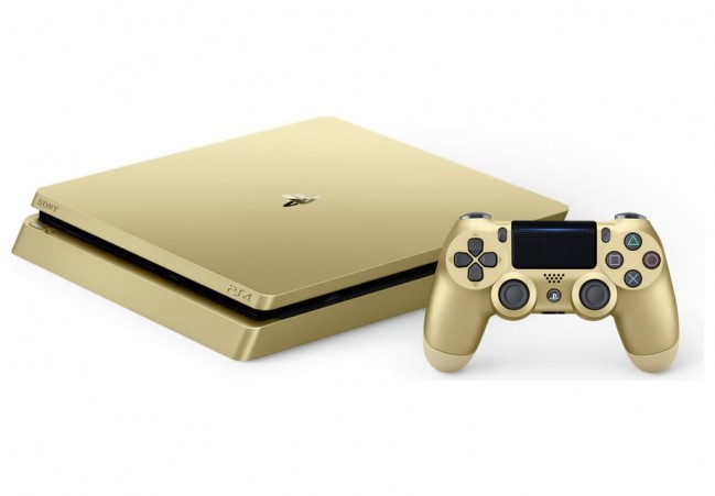 Sony PlayStation 4 with 2 Controllers, 500 GB - GOLD