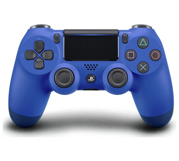 DualShock 4 Wireless Controller for PlayStation 4 V2 (Wave Blue)